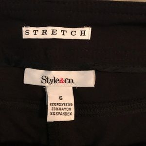 Style&co black pants